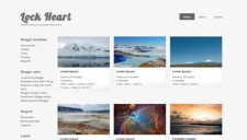 Lock Heart Blogger Template