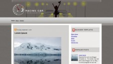 Racing Car Blogger Template
