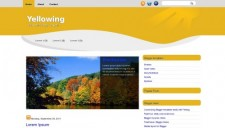 Yellowing Blogger Template