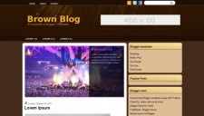 Brown Blog Blogger Template