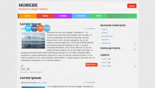 Horebe Blogger Template