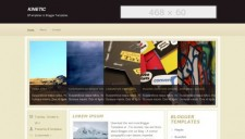 Kinetic Blogger Template