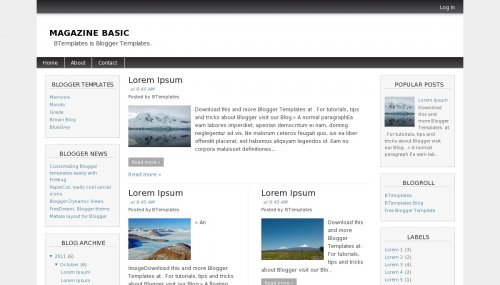 Magazine Basic Blogger template - BTemplates