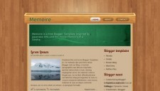Memoire Blogger Template