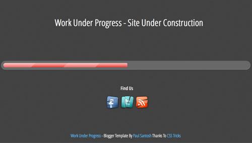 work in progress templates