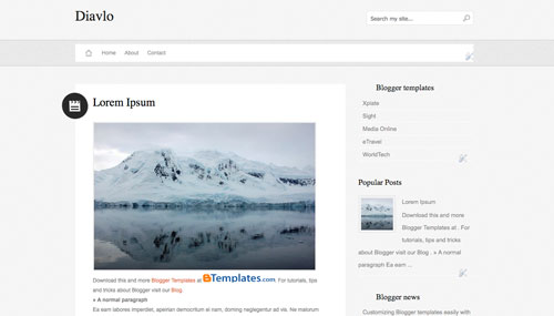 top 25 simple white blogger templates