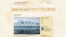 Grunge Yellow Blogger Template