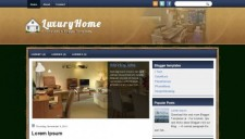 LuxuryHome Blogger Template
