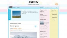 Ashen Blogger Template