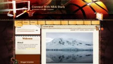 Connect With NBA Stars Blogger Template
