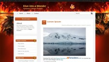 Dive into a Wonder Blogger Template