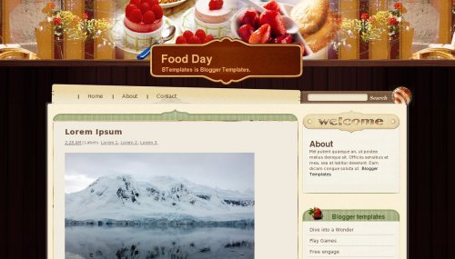 Food Day - Blogger template