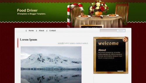 Food Driver - Blogger template
