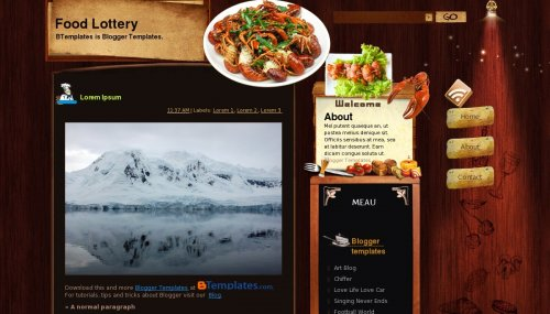 Food Lottery Blogger template - BTemplates