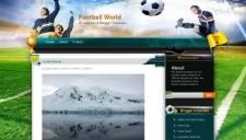 Football World Blogger Template