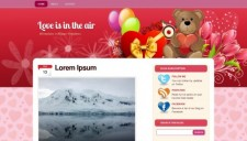 Love is in the air Blogger Template