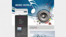 Music World Blogger Template