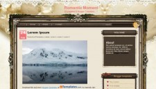 Romantic Moment Blogger Template