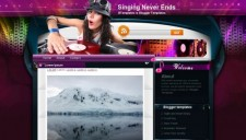 Singing Never Ends Blogger Template