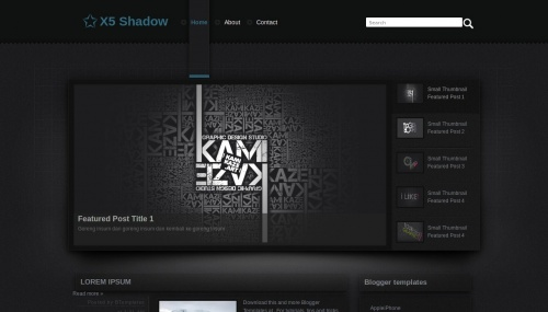 Download Template Premium Free | X5 Shadow