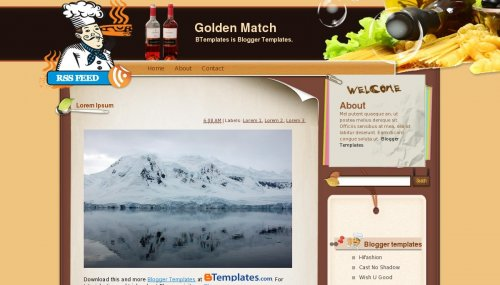 Template Blogger - Golden Match