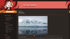 Music News Blogger Template