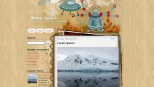 Retro Space Blogger Template