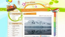 Green Breath Blogger Template