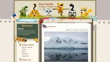 One Family Blogger Template