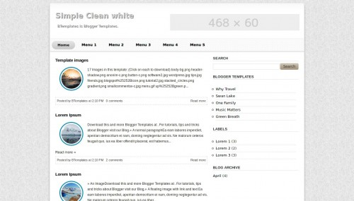 simple clean white blogger template btemplates