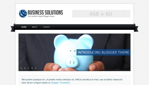 Business solutions blogger template btemplates business solutions live demo wajeb Images