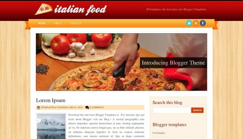 Template Blogger - Italian Food
