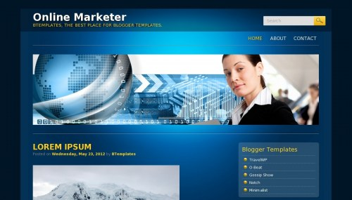 Online marketer blogger template btemplates live demo wajeb Images