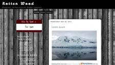Rotten Wood Blogger Template