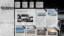 X10 Masonry Transparent Blogger Template