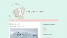 Casual Affair Blogger Template