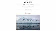 Manifest Blogger Template