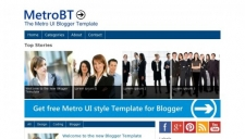 MetroBTK Blogger Template