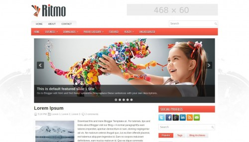 Ritmo blogger template btemplates pronofoot35fo Image collections