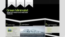 Green Minimalist Blogger Template