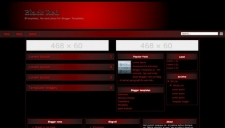 Black Red Blogger Template