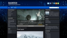 BlackTech Blogger Template