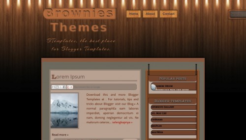 Template Brownies Themes