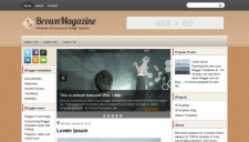BrownMagazine Blogger Template