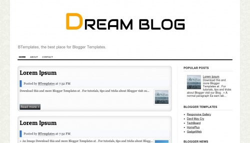 Template DREAM BLOG