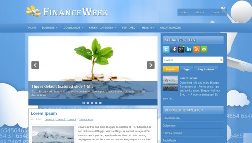 Template Blogger FinanceWeek