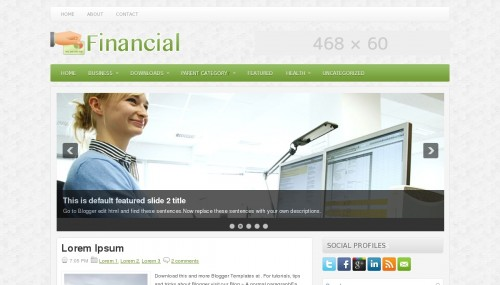 Template Blogger Financial