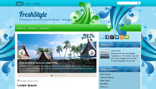Template Blogger Fresh Style