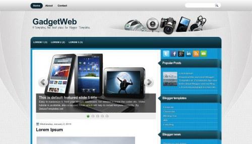 Template Blogger Gadget Web