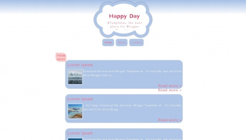 Template Blogger Happy Day